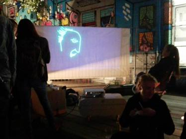 Live Drawing Performance in Urban Spree Berlin