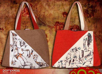 Hand Painted unique canvas bags