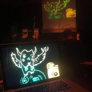 Live Drawing Performance from YAAM Berlin